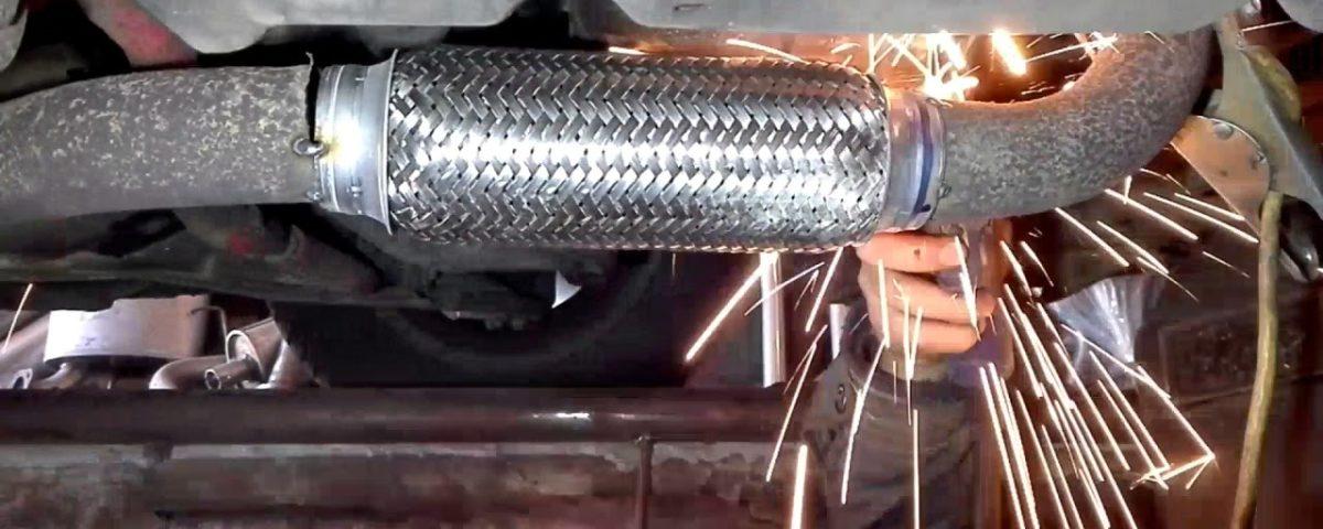 Установка и замена гофры глушителя range rover Замена масла в переднем редукторе лансер